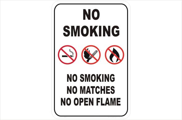 smoking prohibited sign